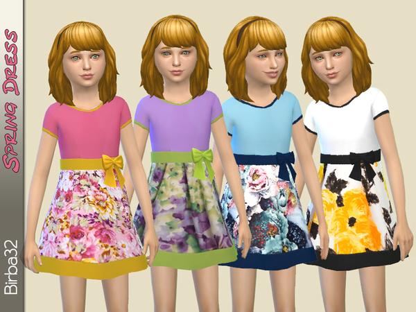 Sims 4 Spring Girl Dress by Birba32 at TSR