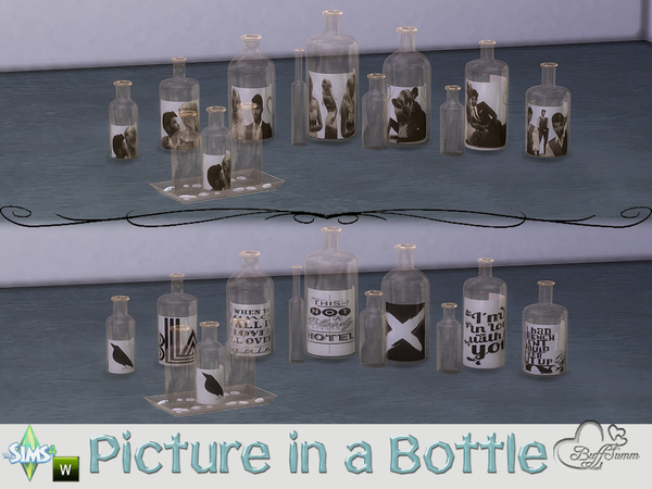 Sims 4 Picture in a Bottle by BuffSumm at TSR