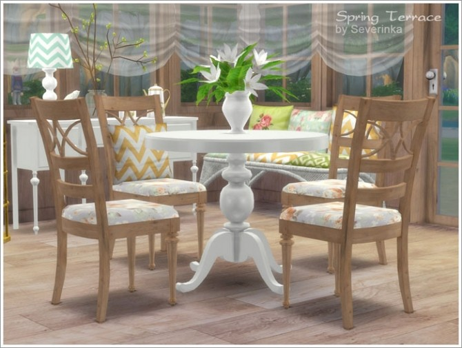Spring terrace at sims by severinka sims 4 updates for Sims 4 dining room ideas