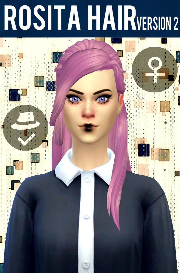 Sims 4 Rosita Hair V2 at Simduction
