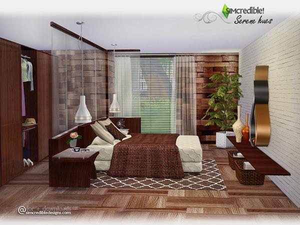 Sims 4 Serene Hues bedroom by SIMcredible at TSR