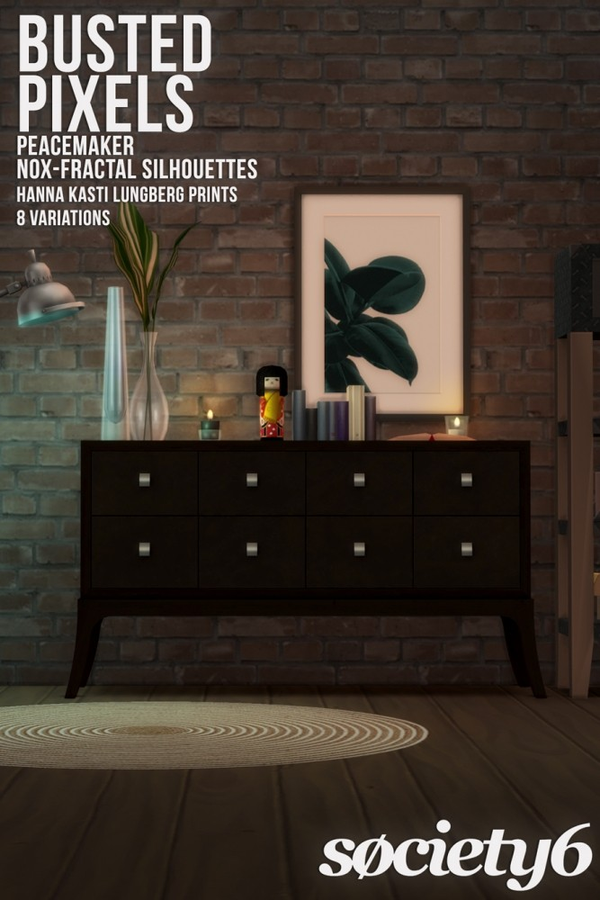 Sims 4 Peacemaker's NOX Fractal Silhouettes at Busted Pixels