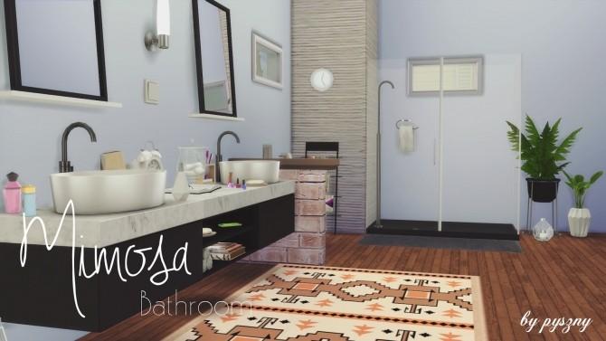 mimosa bathroom set at pyszny design sims 4 updates On sims 4 master bathroom