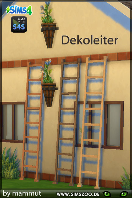 Sims 4 Decorative stairs 1 by mammut at Blacky's Sims Zoo