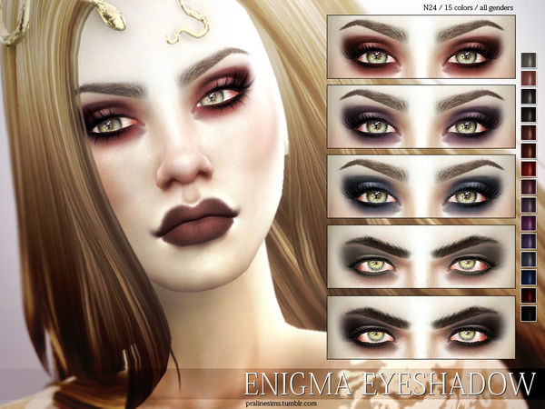 Enigma Eyeshadow N24 by Pralinesims at TSR image 9 Sims 4 Updates