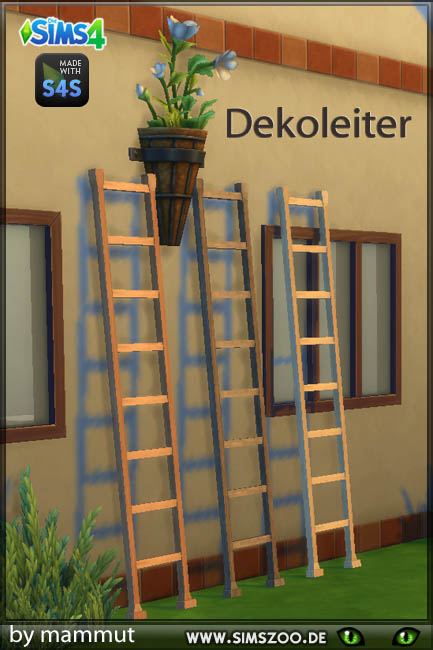 Sims 4 Decorative stairs short by Mammut at Blacky's Sims Zoo