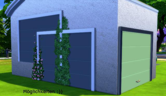 Garage door by christine1000 at sims marktplatz sims 4 for Sims 4 garage