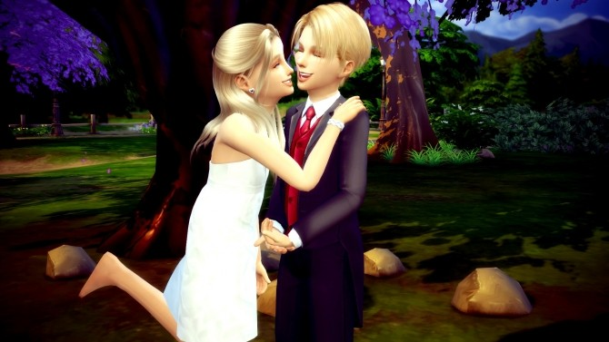Sims 4 Romantic Couple Kids Pose Override No.5 at RomerJon17 Productions
