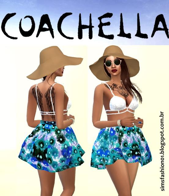 Sims 4 Coachella dress at Sims Fashion01