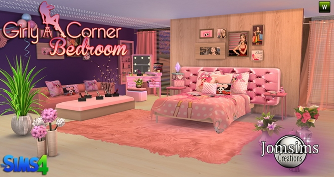 Girly Bedroom At Jomsims Creations 187 Sims 4 Updates