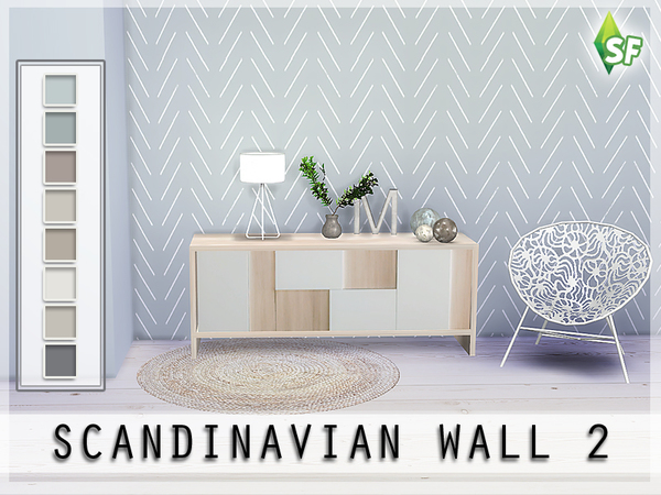 Scandinavian Wall Set By Simfabulous At Tsr 187 Sims 4 Updates