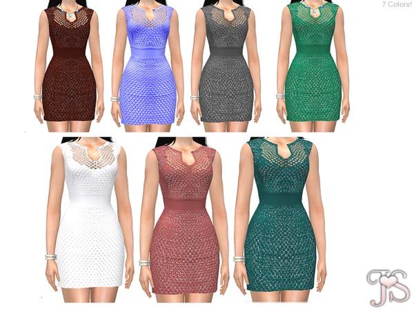 Sims 4 ShotGun Lace Dress by JavaSims at TSR