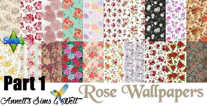 Sims 4 Mega Pack 60 Rose Wallpapers at Annett's Sims 4 Welt
