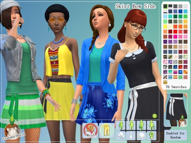 Sims 4 Skirt Bow Side by Standardheld at SimsWorkshop