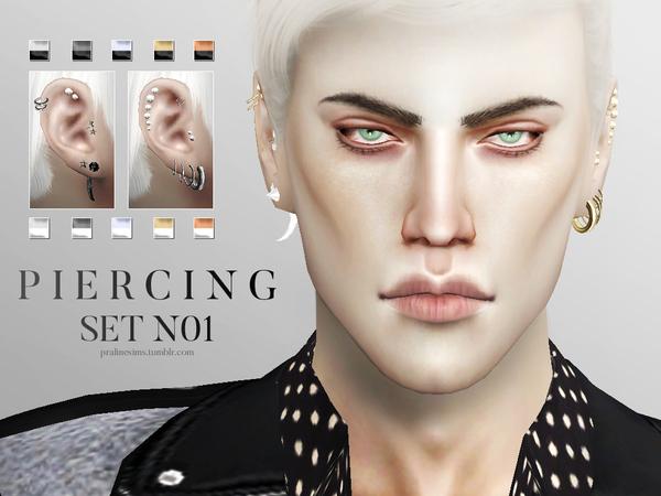 4 facial piercings Sims