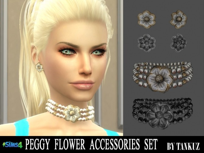 Sims 4 Peggy Flower Accessories Set at Tankuz Sims4