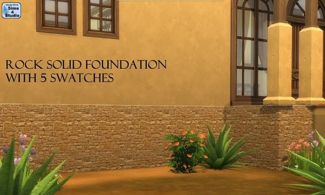 Rock Solid Foundation5 Swatches At Sims 4 Studio 187 Sims 4