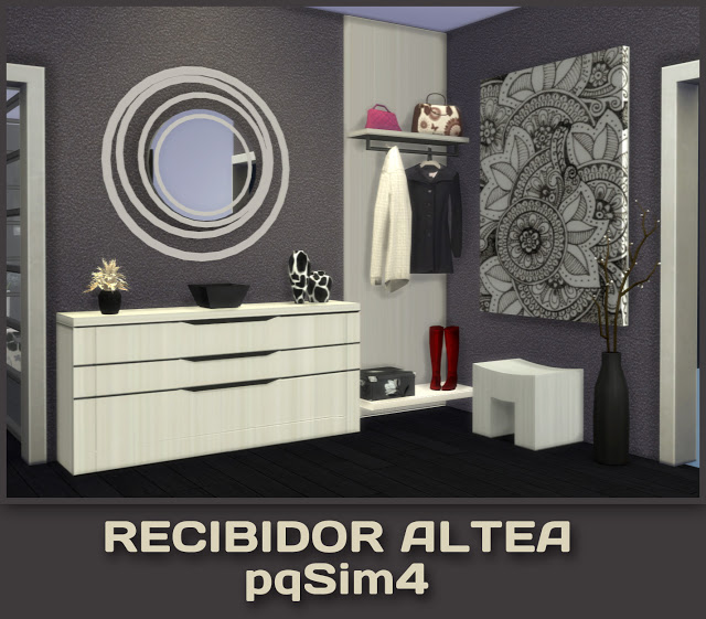 Sims 4 Altea hall by Mary Jimenez at pqSims4