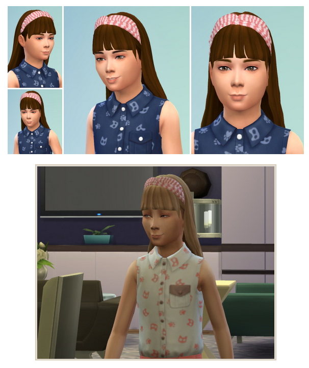 Sims 4 GirlyHair with Headband at Birksches Sims Blog