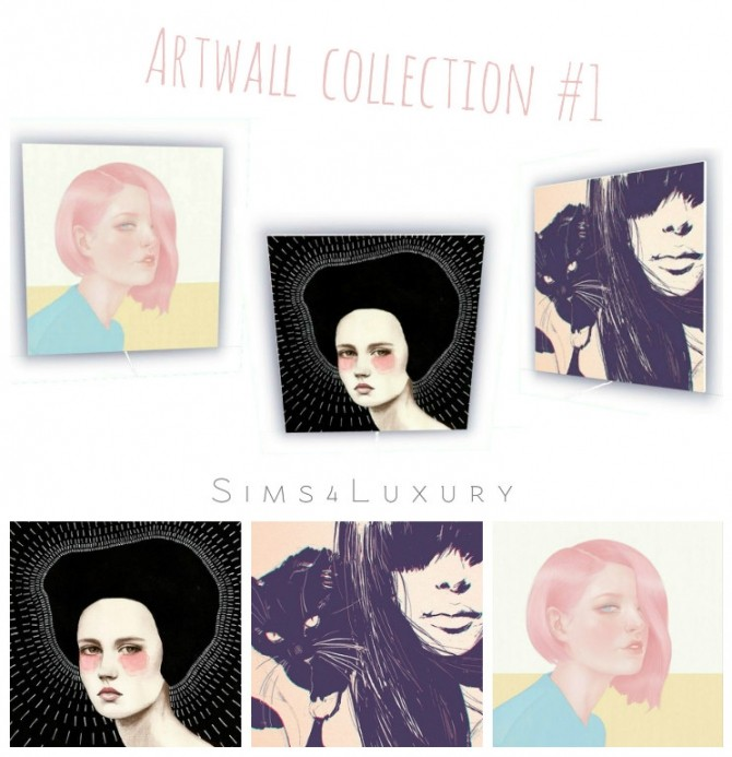 Sims 4 Artwall collection #1 at Sims4 Luxury