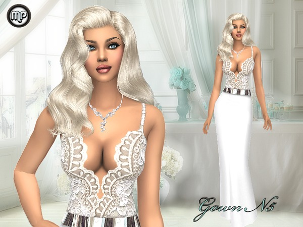 Sims 4 MP Gown N5 at BTB Sims – MartyP