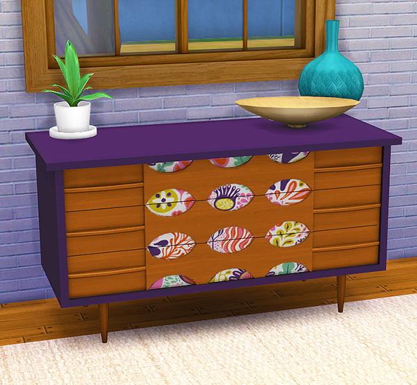 Sims 4 Colorfloral dresser recolors at 4 Prez Sims4