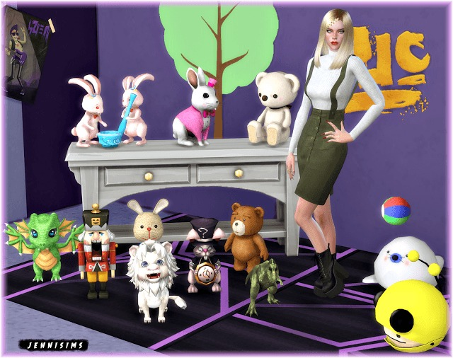 Sims 4 Kids Clutter Vol16 (11 items) at Jenni Sims