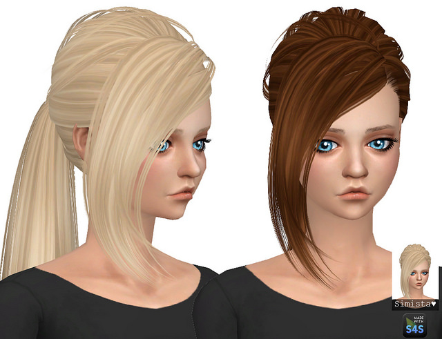Butterfly Sims Hair 151 Retexture at Simista image 11013 Sims 4 Updates