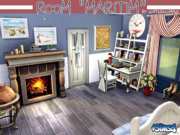 Sims 4 Maritim room by Waterwoman at Akisima