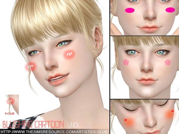 Sims 4 3D Blushing cartoon by S Club WM at TSR