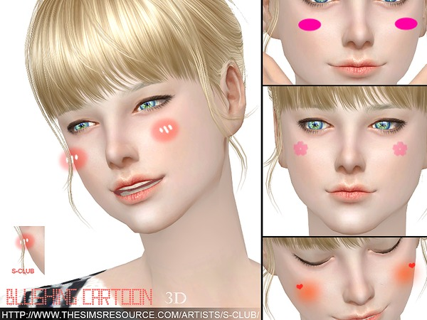 3D Blushing cartoon by S Club WM at TSR image 1106 Sims 4 Updates