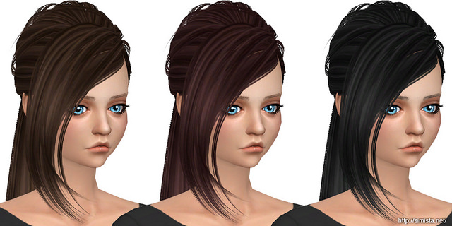 Butterfly Sims Hair 151 Retexture at Simista image 11113 Sims 4 Updates