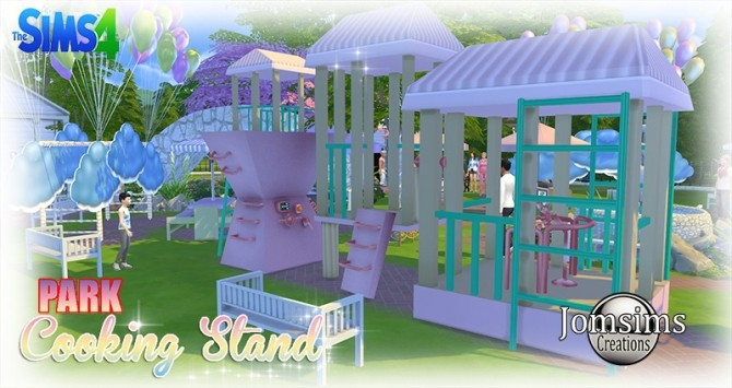 Cooking Stand Park At Jomsims Creations 187 Sims 4 Updates