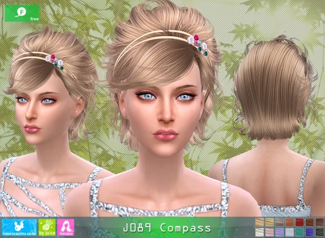 Sims 4 J089 Compass hair (Free) at Newsea Sims 4