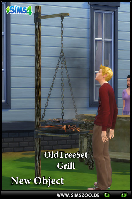 Sims 4 Old Tree Set Grill by blackypanther at Blacky's Sims Zoo