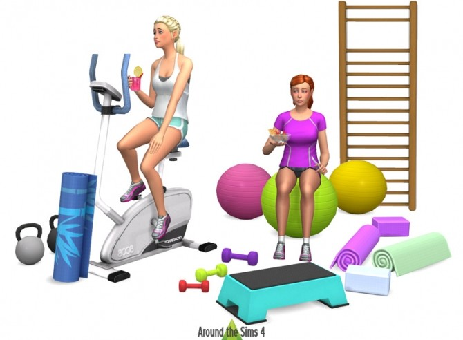 Gym sport objects at around the sims updates