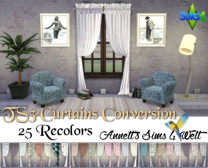 TS3 Curtains Conversion Part 1 at Annett's Sims 4 Welt image 118 670x544 Sims 4 Updates