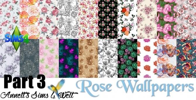 Mega Pack 60 Rose Wallpapers At Annett S Sims 4 Welt