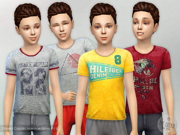 Sims 4 T Shirt Collection for Boys P11 by lillka at TSR
