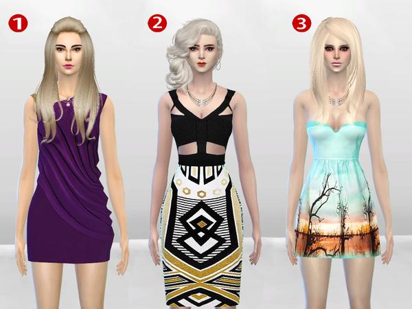 McKenzie Dress Gift Set by McLayneSims at TSR image 1216 Sims 4 Updates