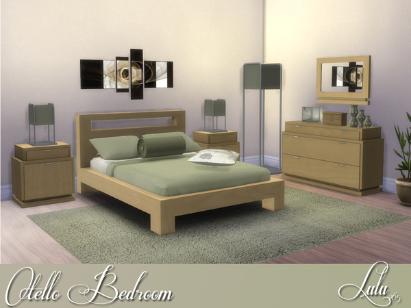 Sims 4 Otello Bedroom Set by Lulu265 at TSR