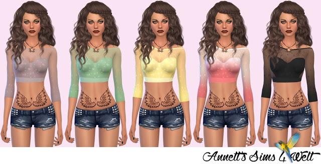 Sims 4 Glitter Summer Top at Annett's Sims 4 Welt