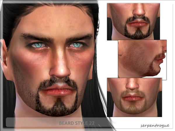 Sims 4 Beard Style 22 by Serpentrogue at TSR