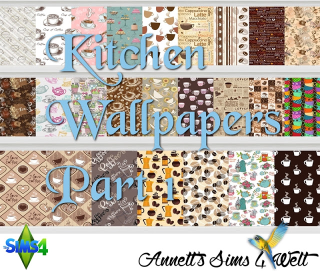 Kitchen Wallpapers Part 1 + Part 2 at Annett's Sims 4 Welt image 1243 Sims 4 Updates