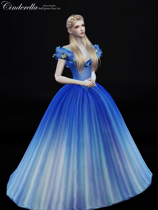 Cinderella Ball Grown Poses Set At Flower Chamber 187 Sims 4