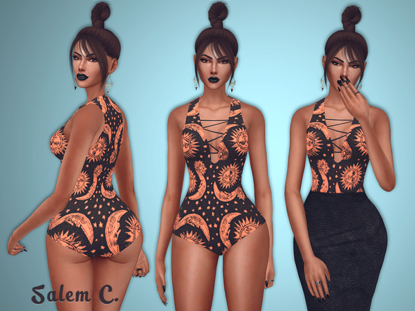 Sims 4 Star and Moon Outfit by Salem C. at TSR