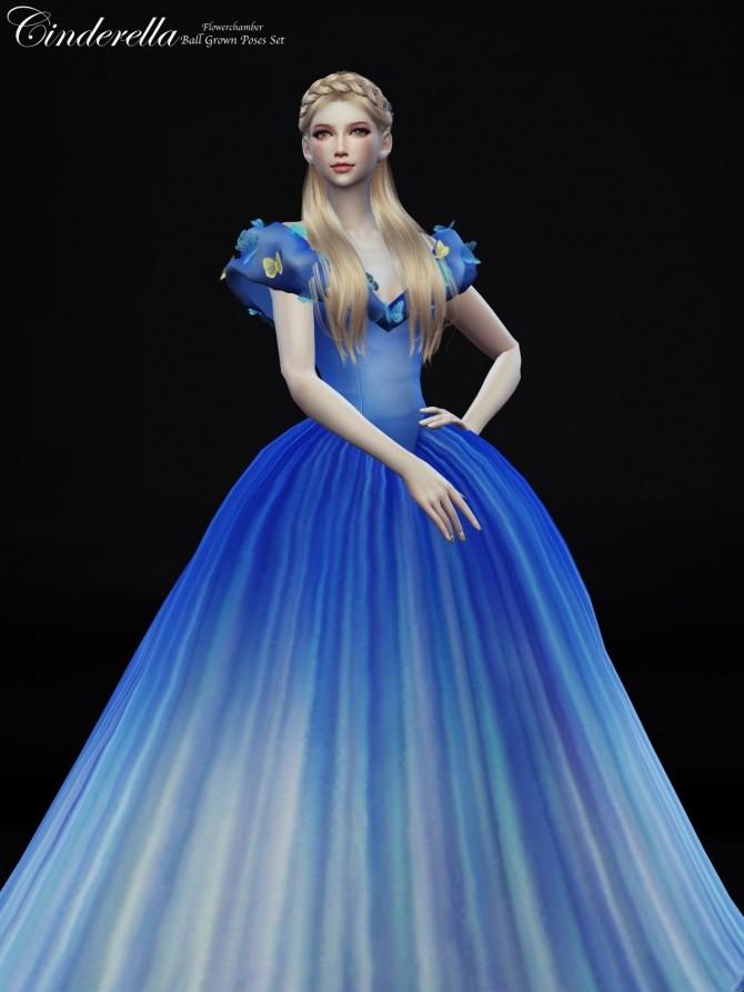 Sims 4 Cinderella Ball Grown Poses Set at Flower Chamber