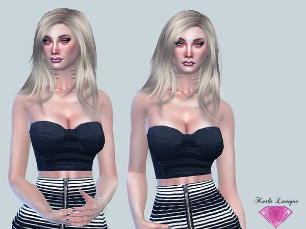 Sims 4 Audace Top by Karla Lavigne at TSR