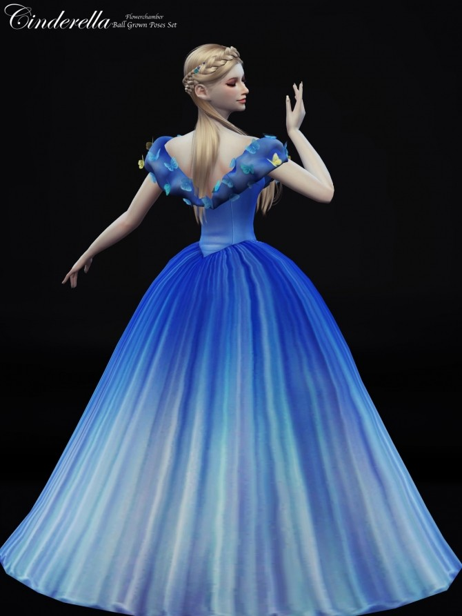 Cinderella Ball Grown Poses Set at Flower Chamber image 1305 670x893 Sims 4 Updates