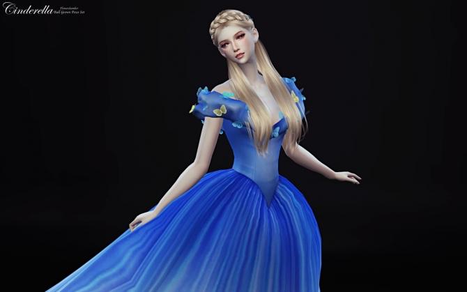 Cinderella Ball Grown Poses Set At Flower Chamber 187 Sims 4